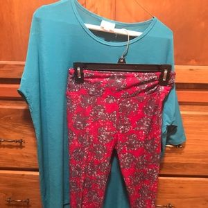 Lularoe leggings and Irma
